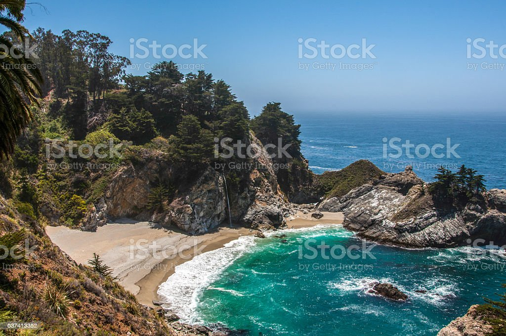 McWay Falls, Big Sur, California, USA stock photo