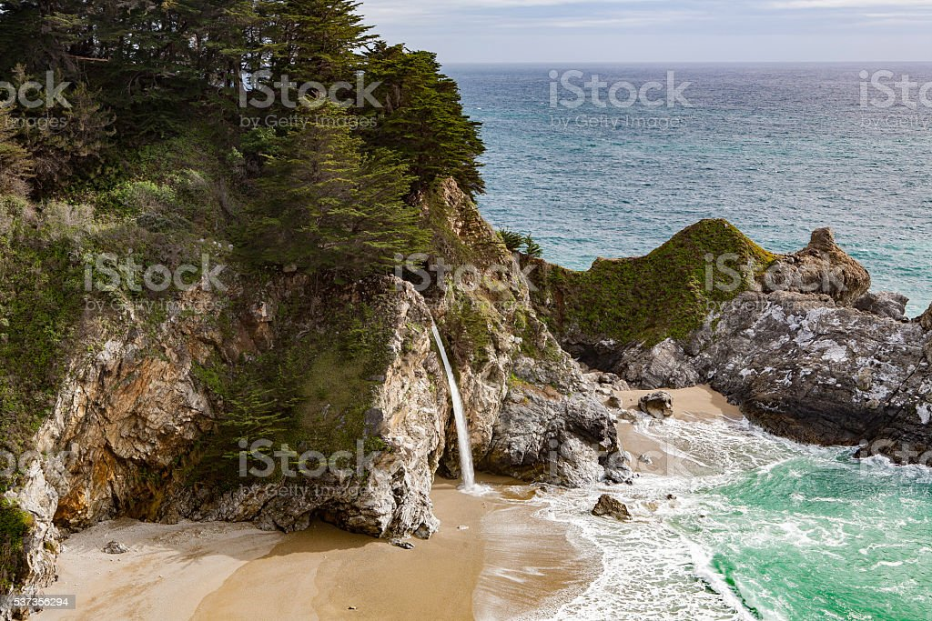 McWay Falls in Big Sur stock photo