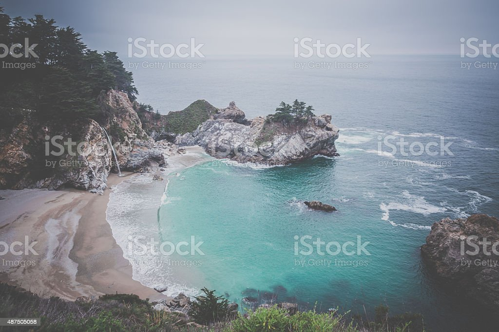 McWay Falls, Julia Pfeiffer Burns State Park, California stock photo