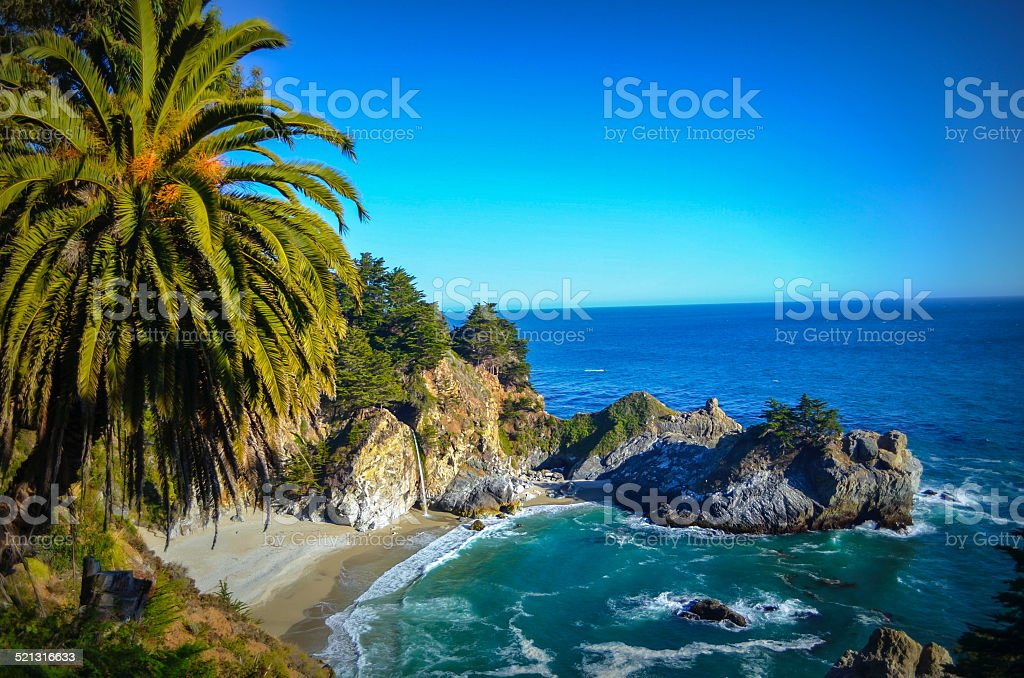 McWay Falls, Pacific coast stock photo