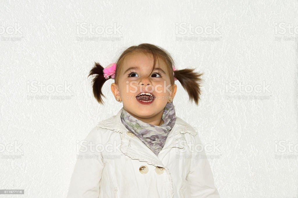 Mädchen lächelt stock photo