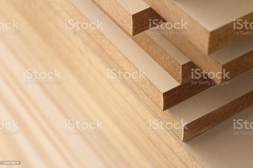 mdf wood boards stock photo