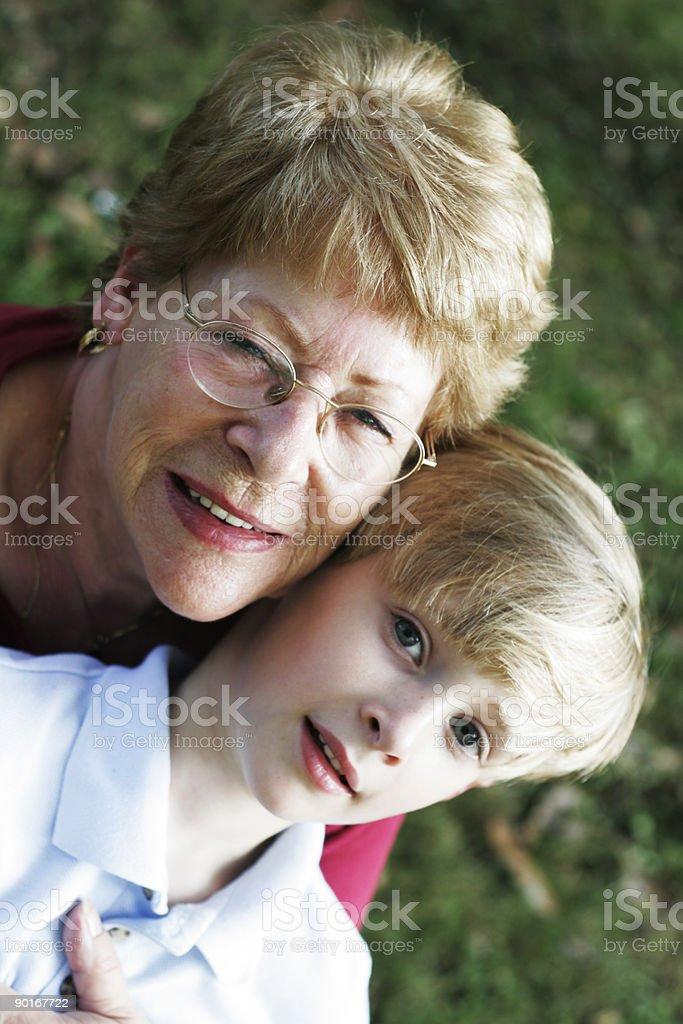 Me and Grandma 2 royalty-free stock photo