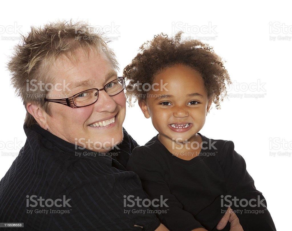 Me and Grandma royalty-free stock photo