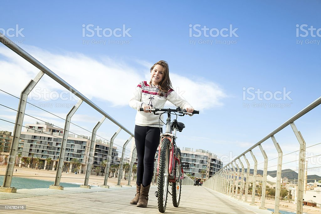 Me and my bike royalty-free stock photo
