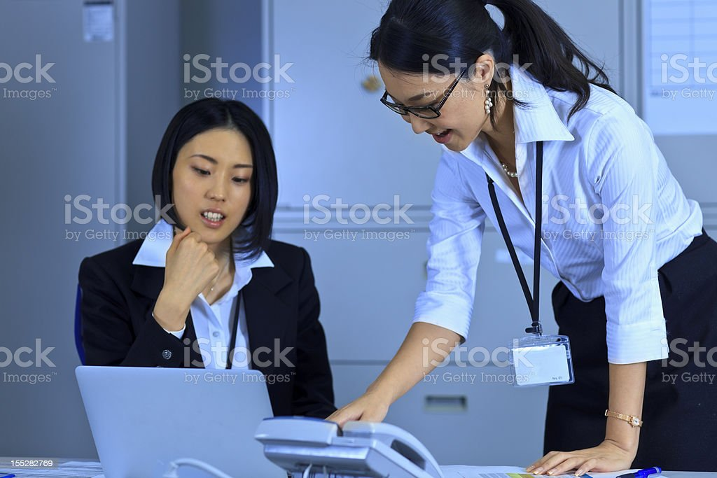 Me and my boss royalty-free stock photo