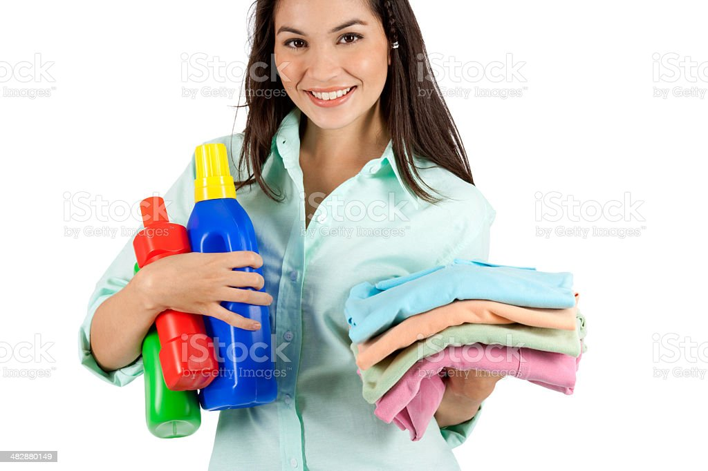 Me And My Clean Laundry royalty-free stock photo