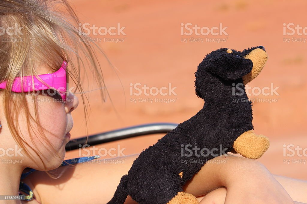 Me and my Dachshund royalty-free stock photo