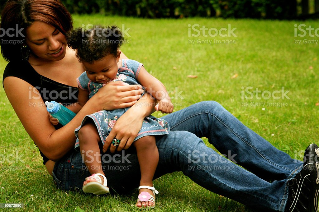me and my daughter royalty-free stock photo