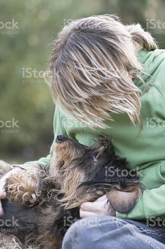 me and my dog royalty-free stock photo