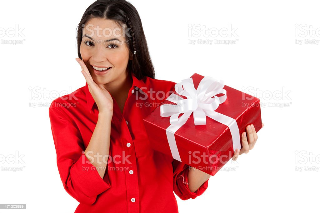 Me And My Gift Box royalty-free stock photo