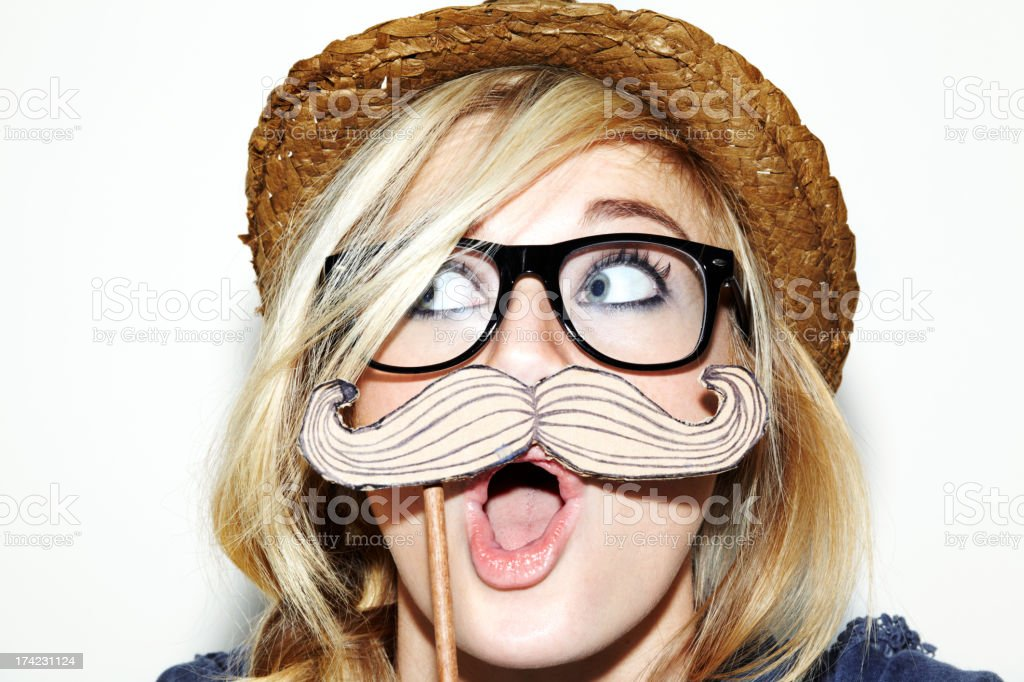 Me and my new moustache stock photo