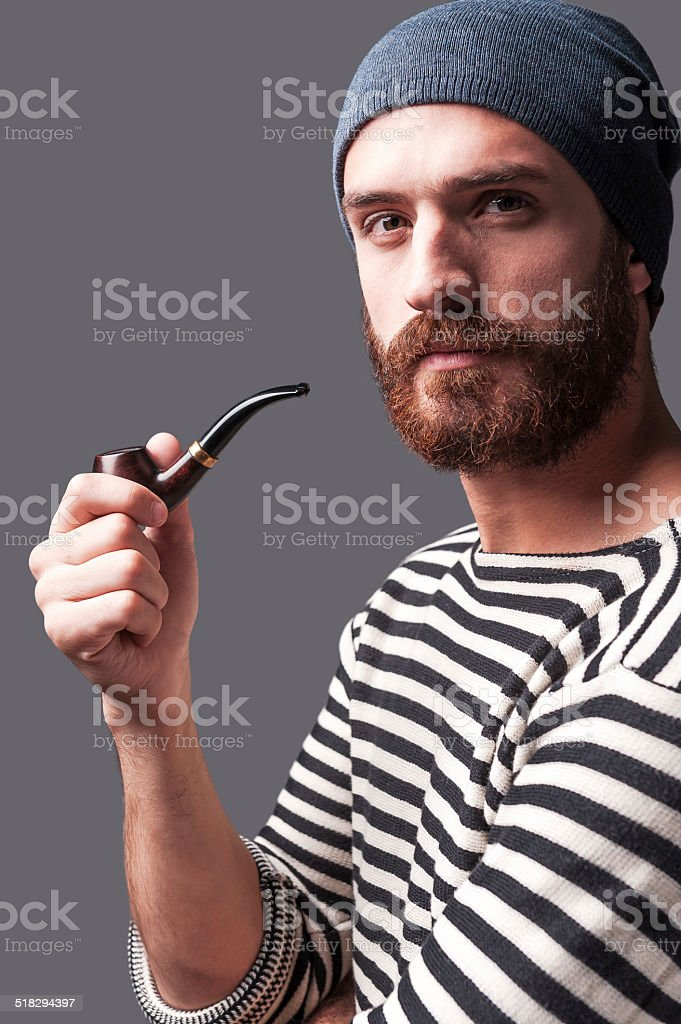 Me and my pipe. stock photo