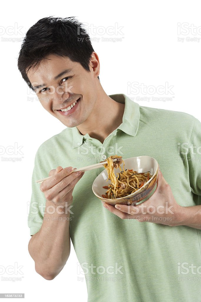 Me And My Yakisoba royalty-free stock photo