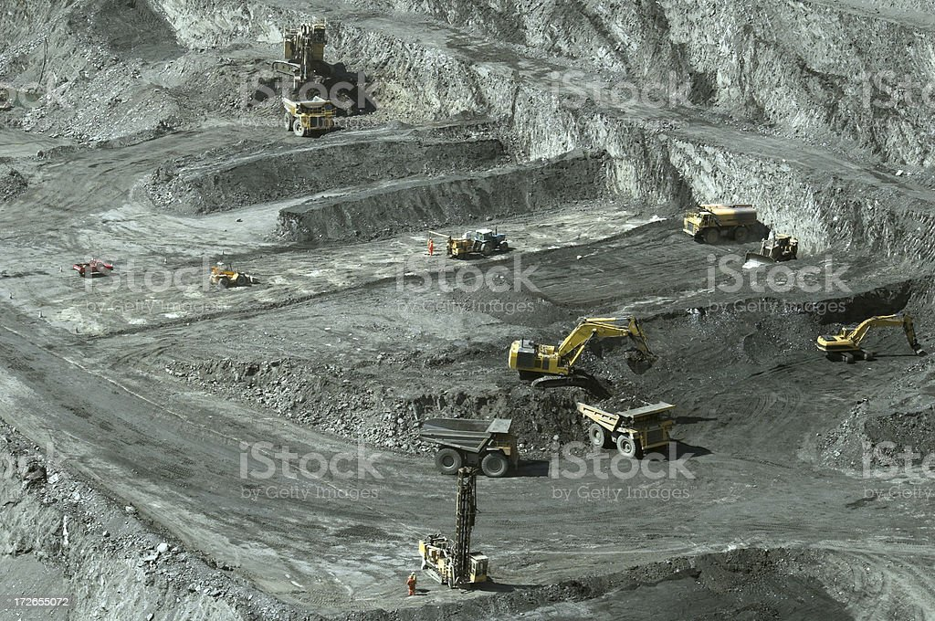 mine scape royalty-free stock photo