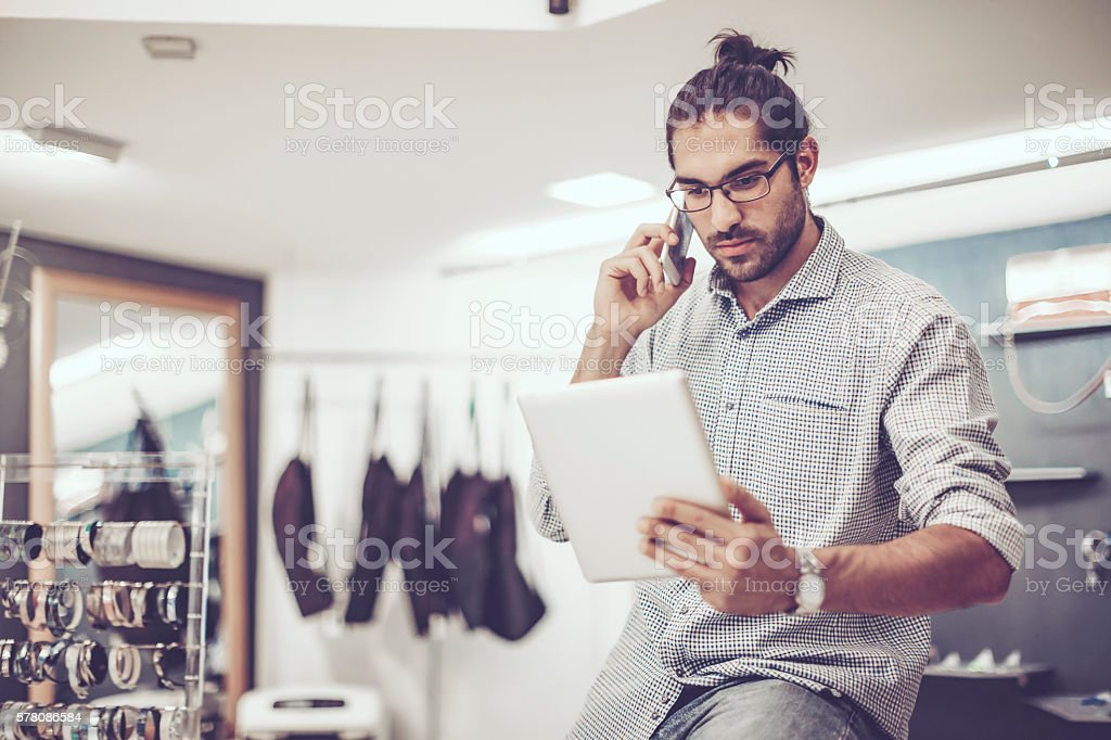 Me in my store stock photo