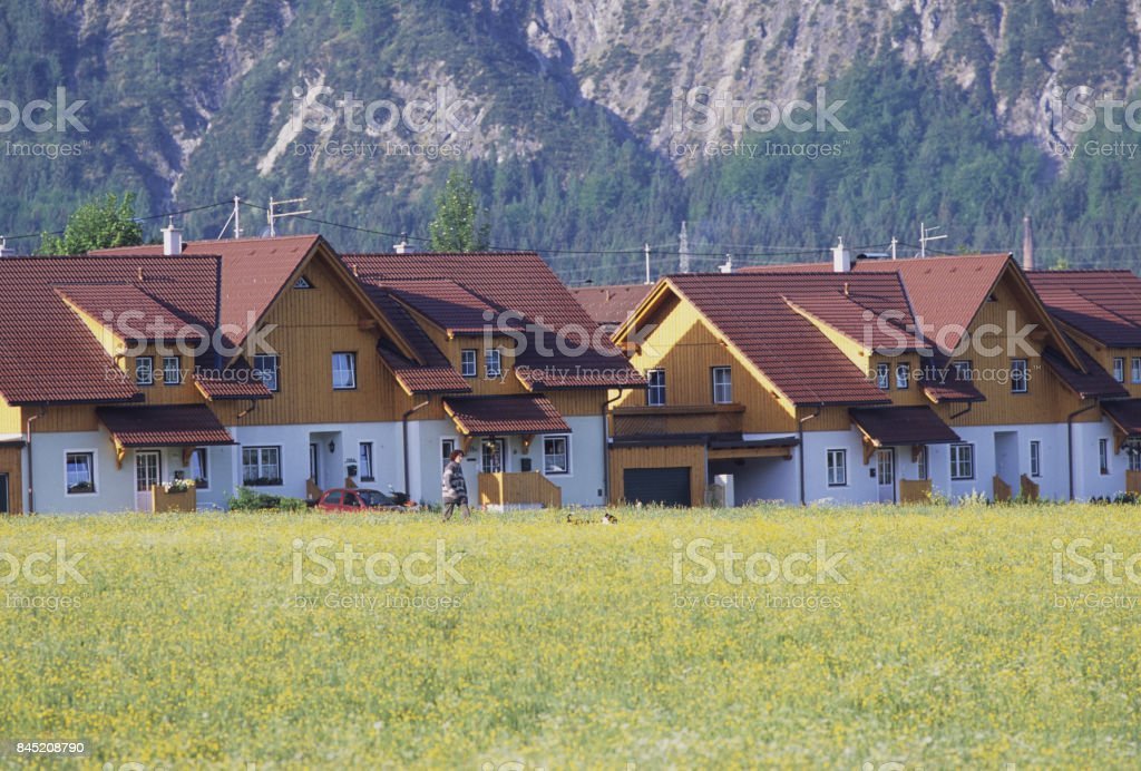 Meadow House stock photo
