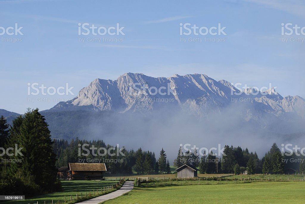 Meadow in bavaria stock photo