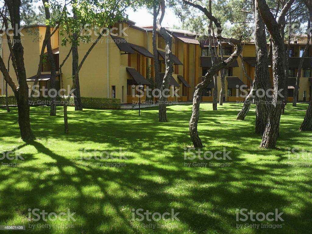 meadow frente de la villa foto de stock libre de derechos