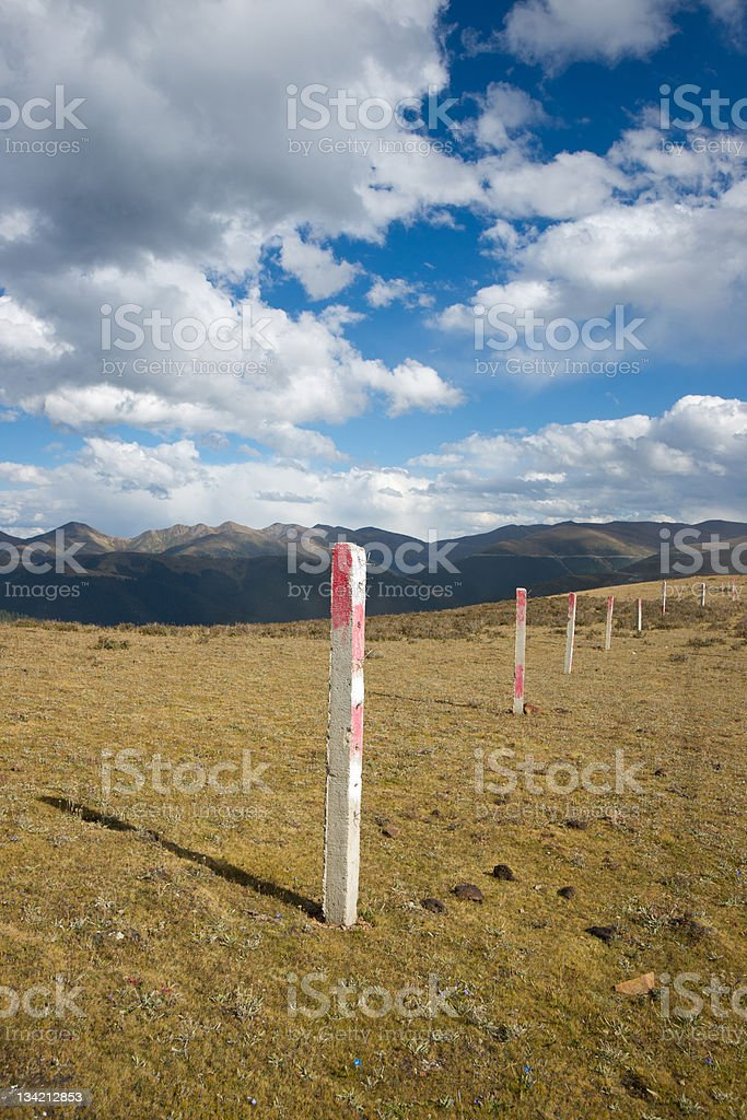 Meadow landscape in autumn,sichuan,china royalty-free stock photo