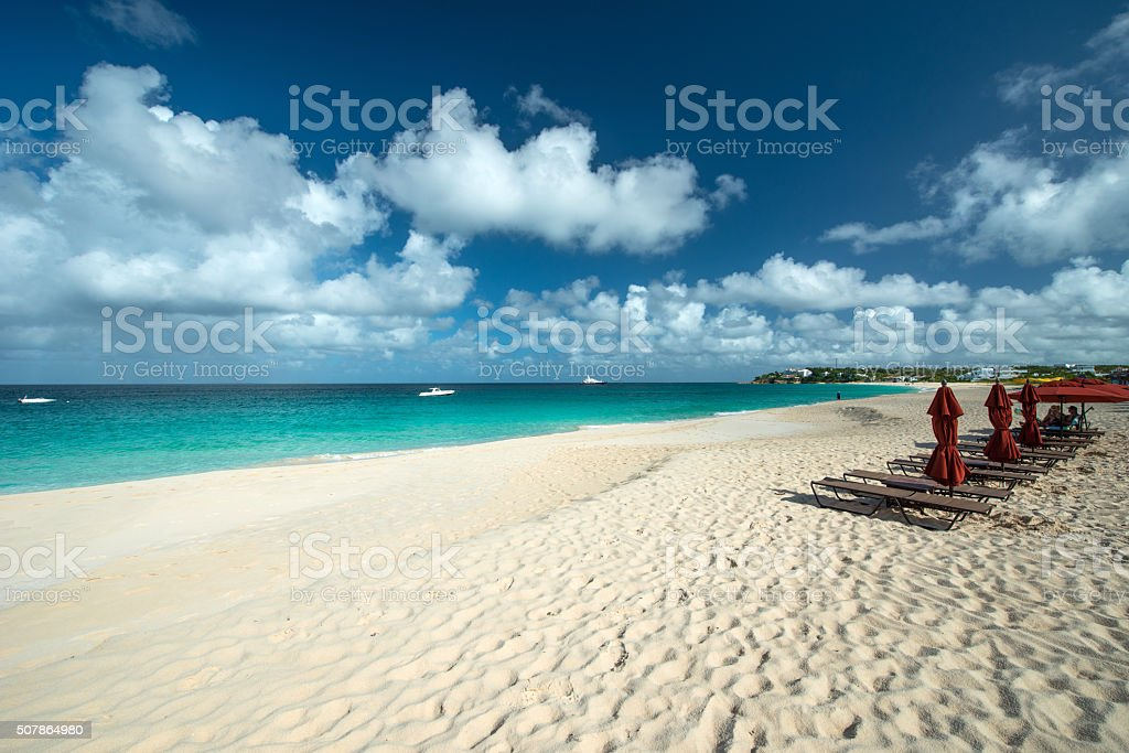 Meads bay, Anguilla Island stock photo