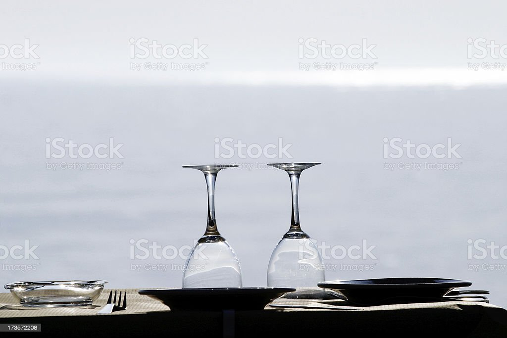 Meal by the beach royalty-free stock photo
