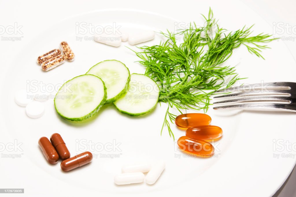 Meal consisting only of pills royalty-free stock photo
