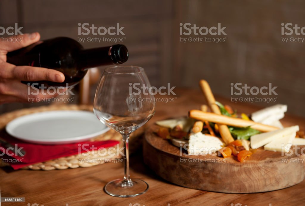 Meal in the restaurant stock photo