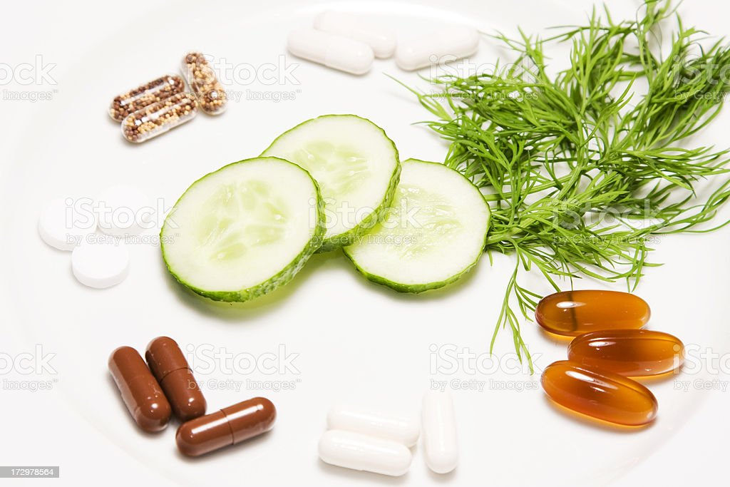 Meal of Pills royalty-free stock photo