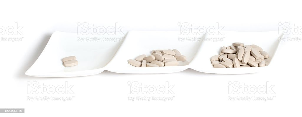 Meal of vitamins royalty-free stock photo
