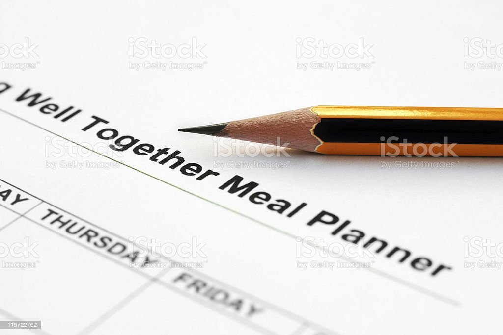 Meal planner royalty-free stock photo