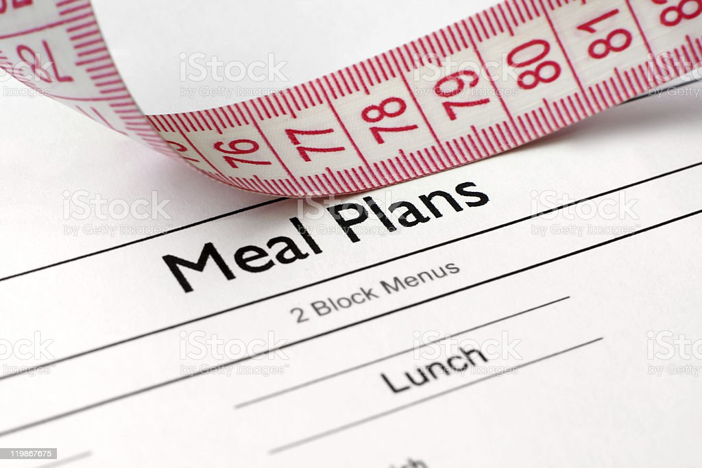 Meal plans royalty-free stock photo