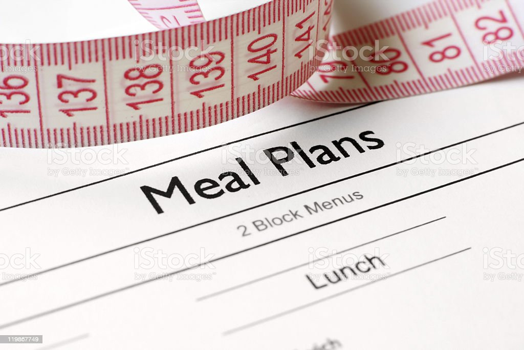 Meal plans stock photo