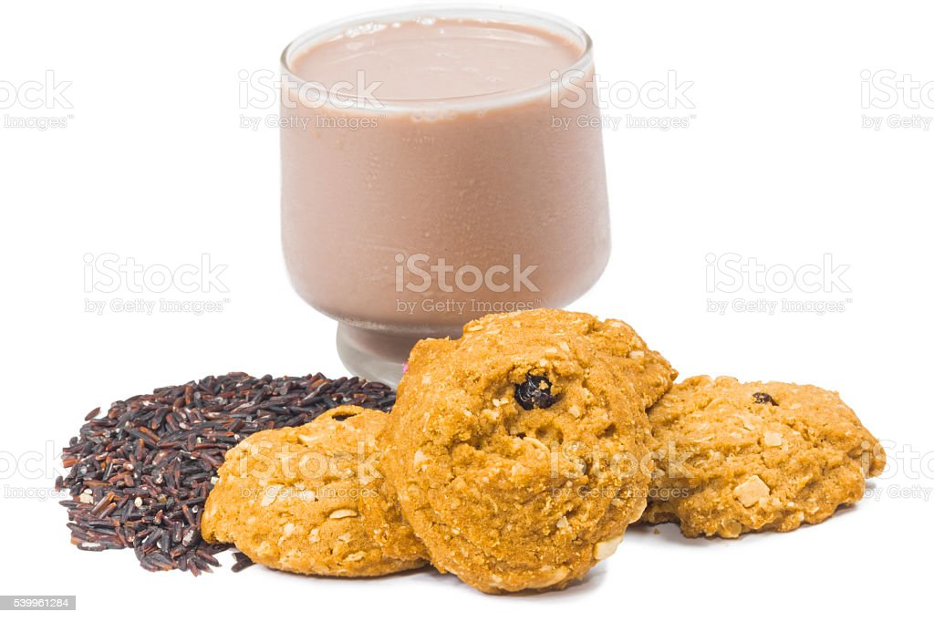 meal rasin cookies stock photo