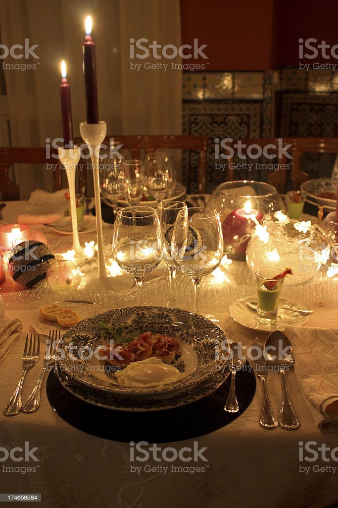 Meal ready for cellebration royalty-free stock photo