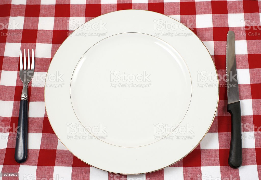meal setting royalty-free stock photo