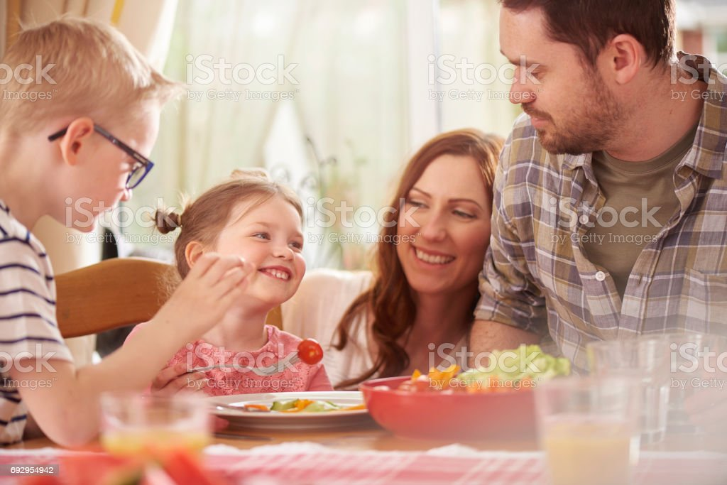 mealtime funtime stock photo