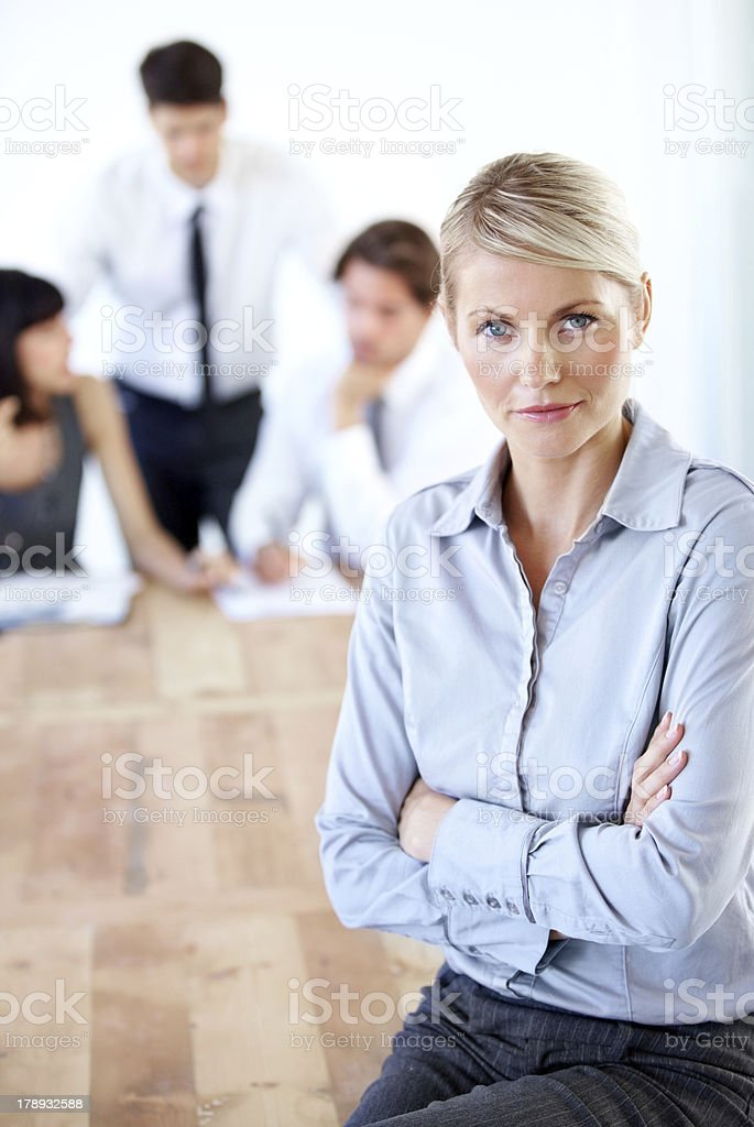 I mean business royalty-free stock photo