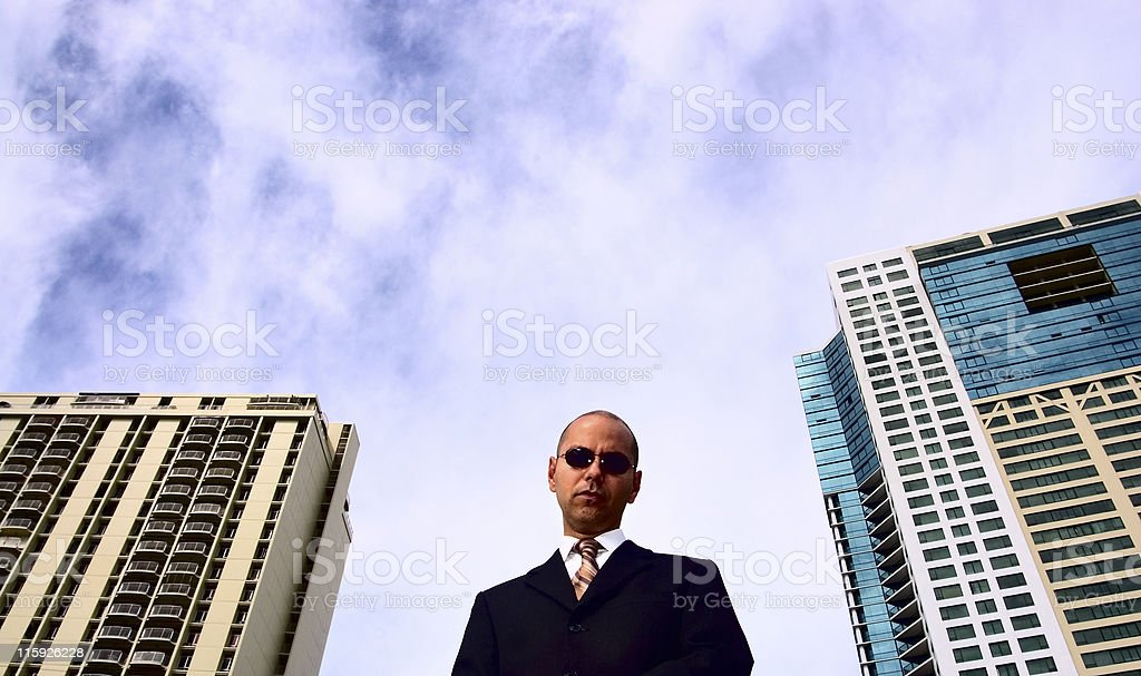 Mean Corporate Guy royalty-free stock photo