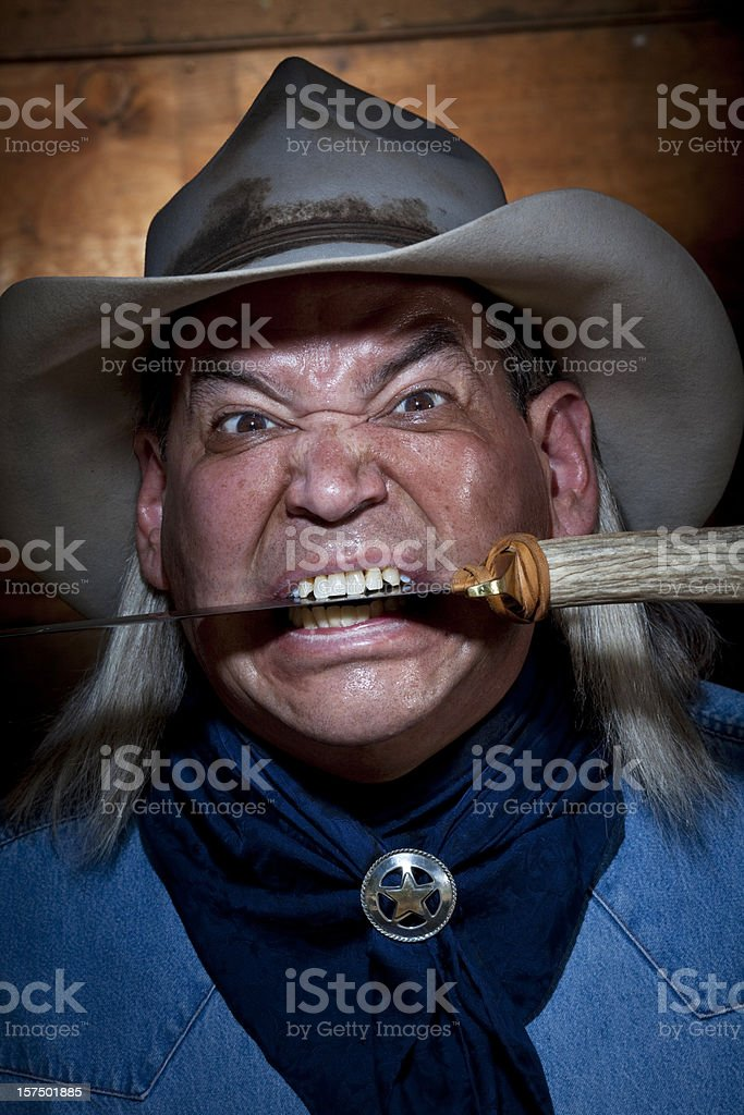 Mean Cowboy royalty-free stock photo