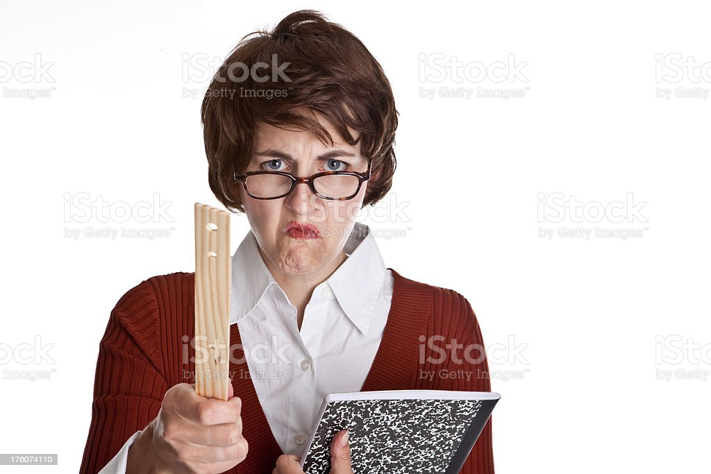 Mean Teacher stock photo