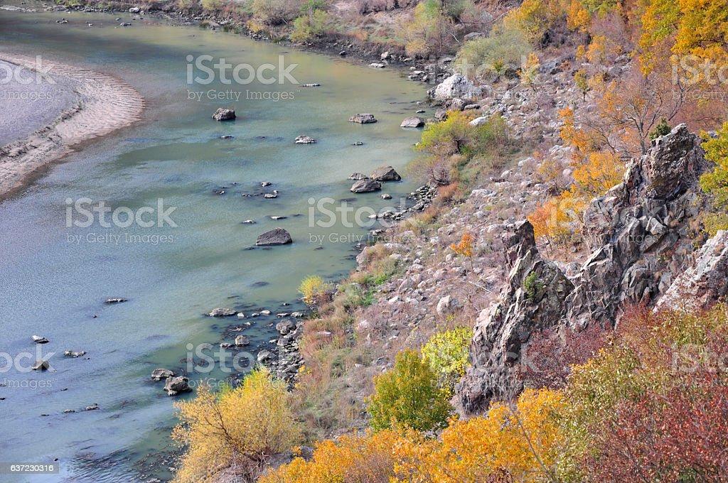 Meander River  landscape stock photo