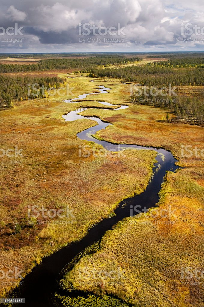 Meandering river. royalty-free stock photo
