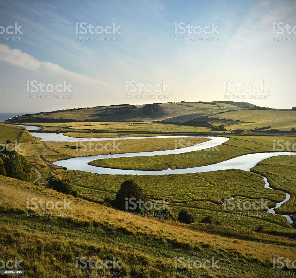 Meandering River stock photo