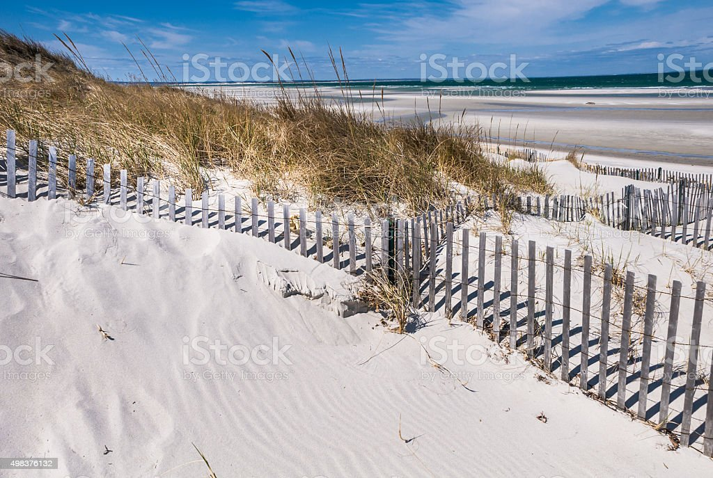 Meandering Sand Fence stock photo