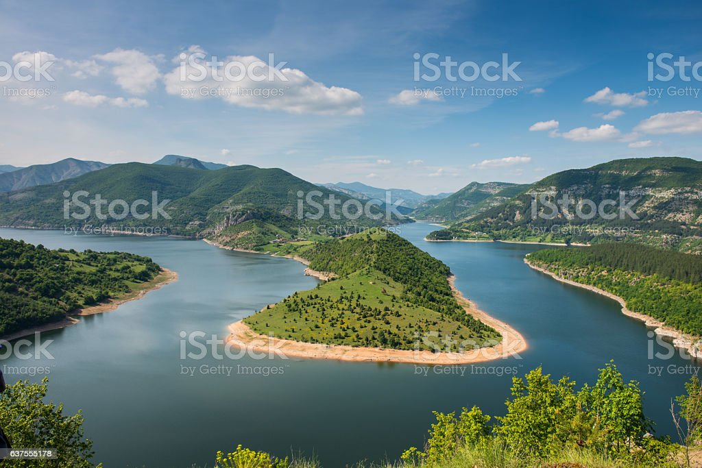 Meanders of Arda river stock photo