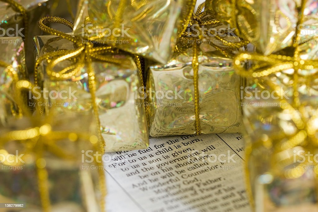 Meaning of Christmas stock photo