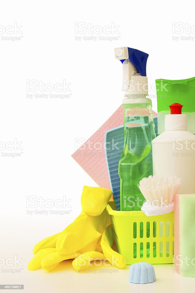 Means and cleaning tools royalty-free stock photo