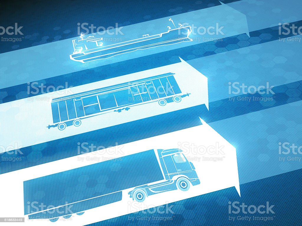 Means of Delivery vector art illustration