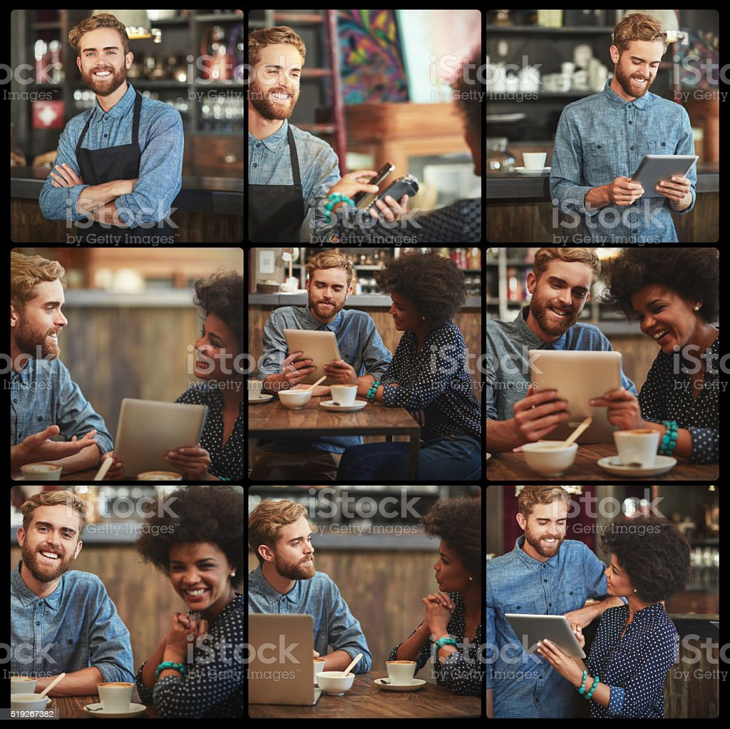 Meanwhile, in the bistro... stock photo